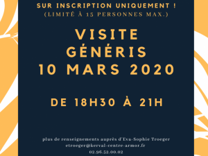 Visite Généris mardi 7 avril 2020